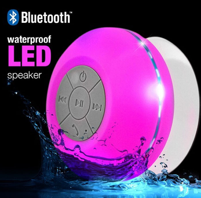 2016 Hottest colorful LED suction cup waterproof bluetooth speaker