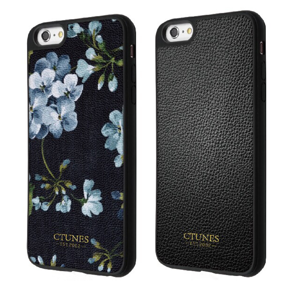 C&T Blue Flower PU Leather Back Slim Hard PC Bumper Case For Iphone 7 4.7""