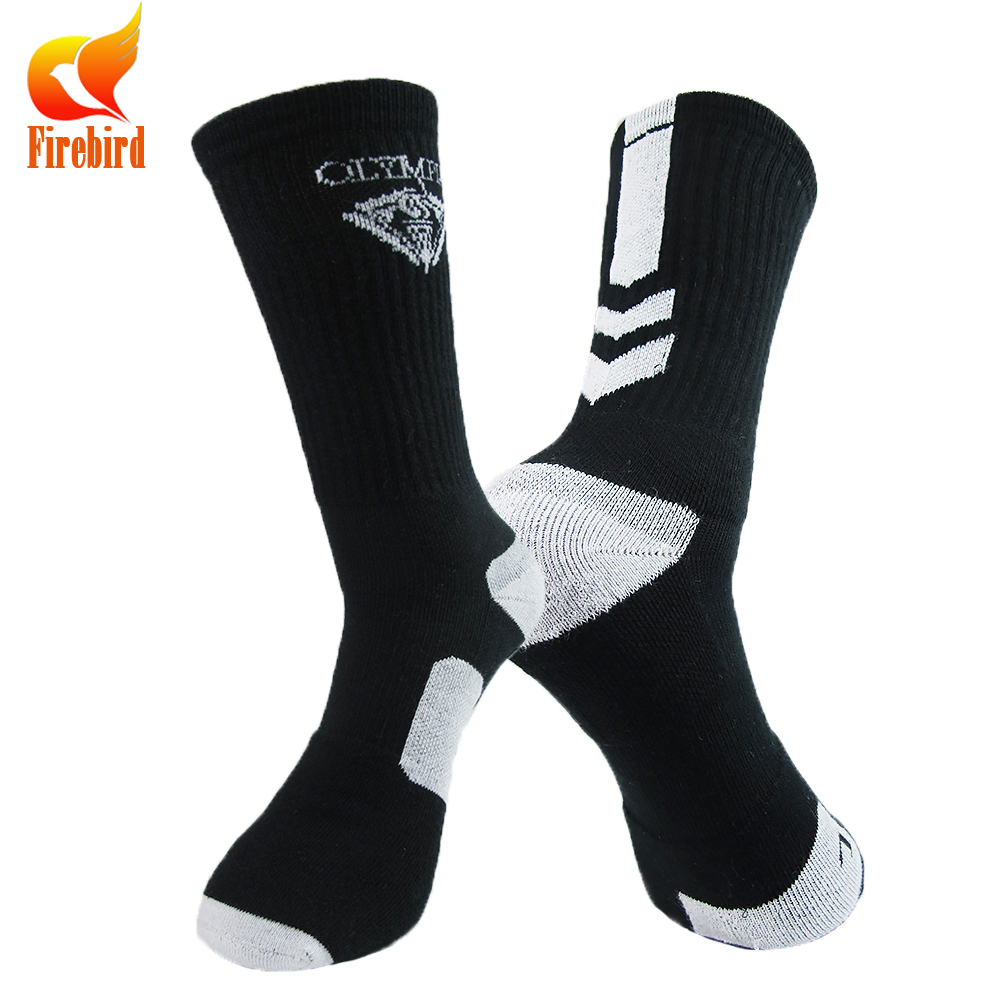 Outdoor cotton running basketball sport socks with high quality
