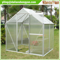 Waterproof Polycarbonate Garden Greenhouse , Sunshade with Aluminium green house