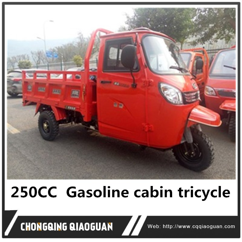 250CC China hot sale Gasoline cabin tricycle