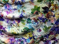 digital printing factory lilan 100 polyester printed organza fabric for dress