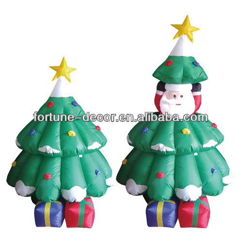 150cmH/5ft inflatable Christmas decoration Santa in christmas tree
