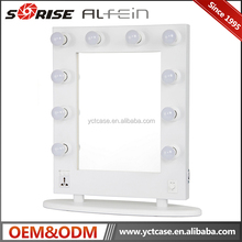 Best Selling Led Makeup Vanity Mirror with Light Bulbs / Private Label Cosmetics Makeup Mirror with LED light