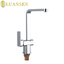 Brass body chrome plating cold hot water mixer tap faucet kitchen