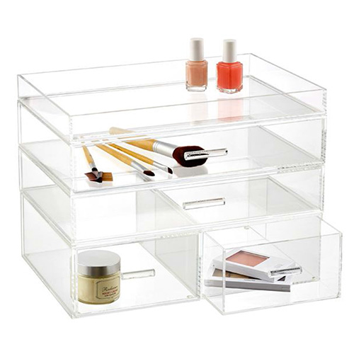 custom luxury acrylic display stand, cosmetic display, jewelry display