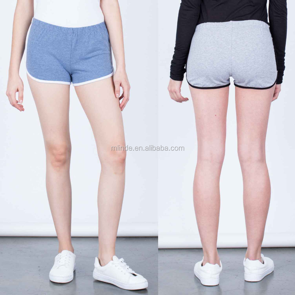 Dri Fit Shorts Wholesale Super Soft Cotton Spandex Striped Sporty Microfiber Softball Shorts Women