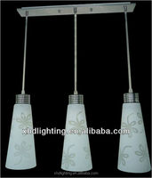 Wrought Iron Hanging Lamp with blown glass for Restaurant Decoration