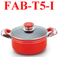 factory produced Aluminium Casserole With Lid top popular Non-stick sauce pot with two ears