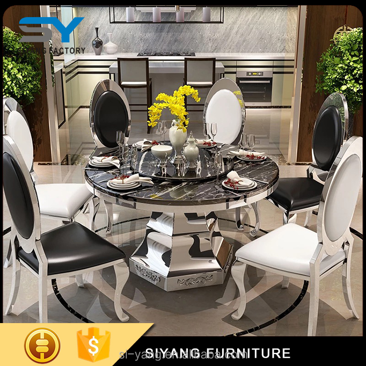 2017 hot sale stainless steel dinner table with new designs from guangdong CT013