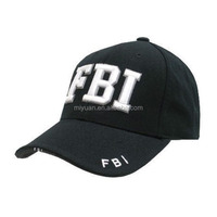 Croatia existing design FBI navy blue cotton minion 3D embroidery sandwich baseball cap factory