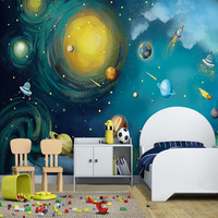 Eco Friendly Top Quality Cheap Kids Room Decor Outer Space Wallpaper Murals