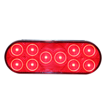 LED Oval Signal Light 6'' Red Stop Turn Tail Light for Truck Tailor And Bus