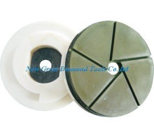 5 inch Diamond Stone Edge Polishing Pad with Snail Lock