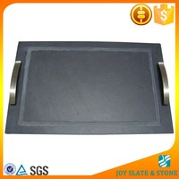 Natural stone serving trays with handles rectangular plates pizza plates