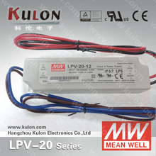 Hot sale Meanwell LPV-20-15 20W 15V waterproof electronic slim led driver
