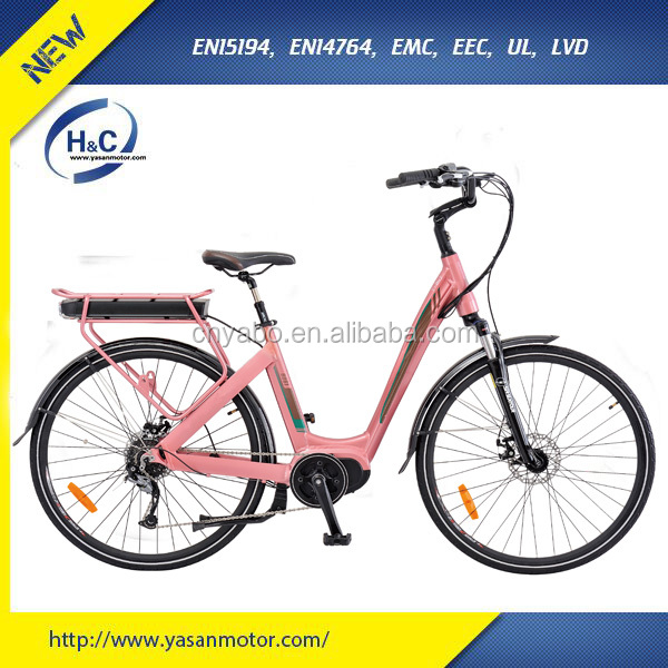 36v 250w 8FUN BBS02 Mid drive Road electric bike with Suspension seat post CE approved ebike