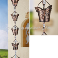 Metal Butterfly Cup Rain Chain For
