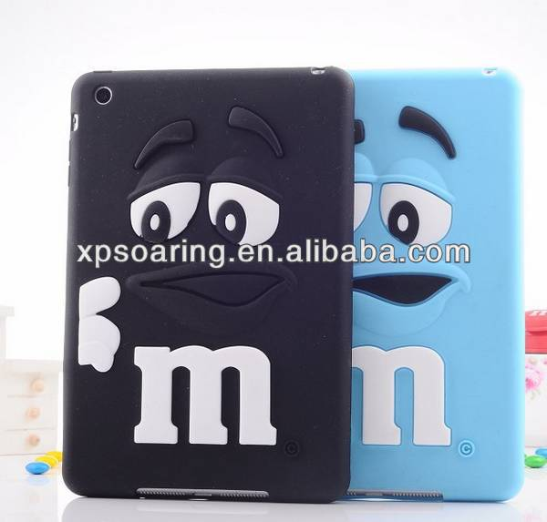 Silicone Smell case for ipad mini, for ipad mini cute beans cover