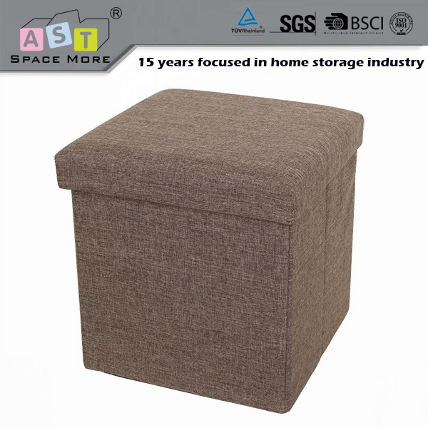 Quality primacy cheap price fabric square storage ottoman