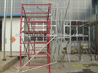 painted metal climbing frames ladder scaffold mason frame scaffolding