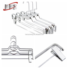 Cheap Custom Supermarket slip Wire Metal Chrome Clothes Hangers for Laundry