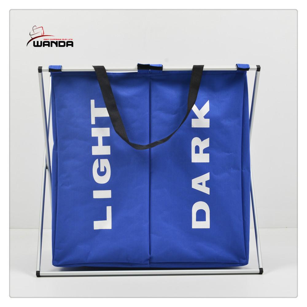 New laundry sorter hamper 2 bin bags section basket lights darks clothes folding buy new - Laundry basket lights darks colours ...