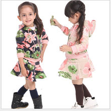 M61845A hot sale lovely girl printed top casual brand kids clothing