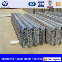 Roadside Single sided 3-waves Guardrail Crash Barriers for highway and freeway