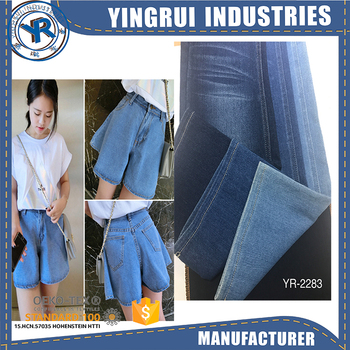 dark indigo stretch denim fabric
