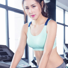 High Quality with low price Ladies Women Custom Blank Strappy Criss-cross Back Comfort Sports Bra with Removable Pads