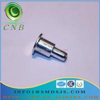 CNB Zinc Plated Carban Steel Flat Head Shoulder Solid Rivet