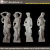 Four Season Western Beautiful Girl Life-size Marble Statue