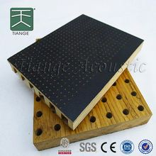 mdf wall board wooden perforated acoustic sound absorbing panel melamine decorative wall covering for auditorium