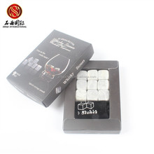 2016 new customized marble whiskey stone cubes white color soapstone granite whiskey stones ice cube dice for party