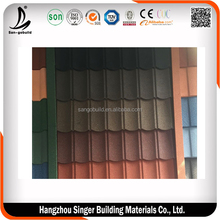 Eaves Tiles Stone Coated Used Metal Roofing, Brick Color Steel Roofing Tiles for Kenya Market