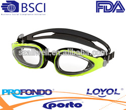 Man high quality aqua sport goggle with colorful selection