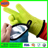 Hanchuan high quality silcone finger protector oven bbq grill mitt items for Heat Resistant Grilling patent silicone bbq glove