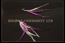wholesale rooster feather earring feather earring handmake
