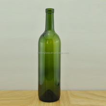 glass wine bottle for drinks 750ml dark green glass material red wine bottle in china