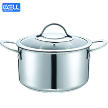Easy clean Cookware Set Stainless Steel Casserole Impact bonding