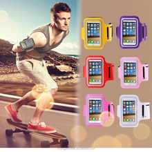 Outdoor running sports adjustable waterproof neoprene cell phone armband case from China Factory