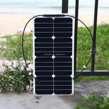 23% High Efficiency 25W Sunpower Cells Semi Flexible Solar Panel With Back Contact