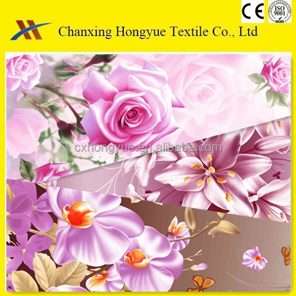 make to order supply type Polyester brushed pigment printed fabric for bed sheet,mattress,curtain