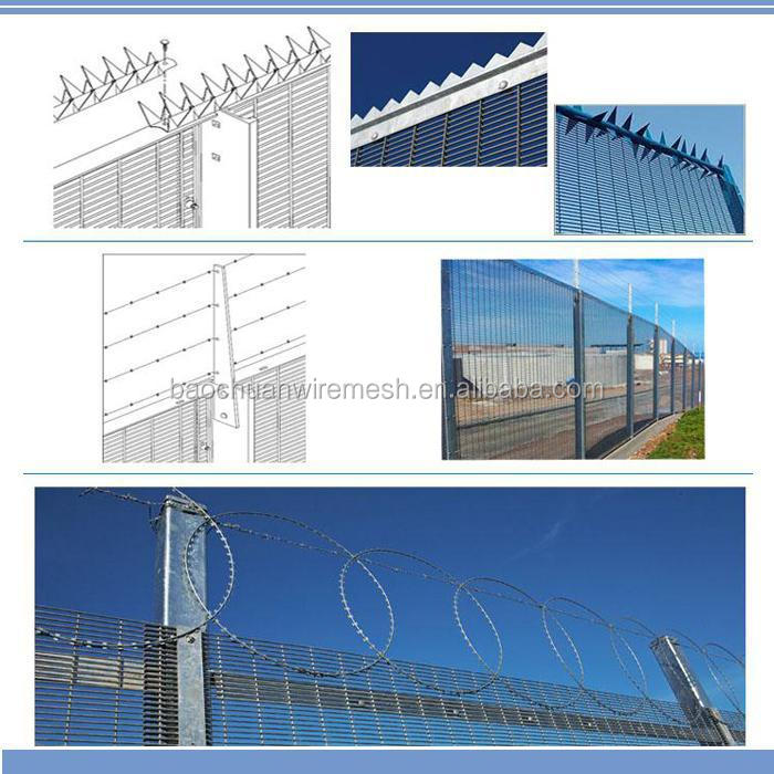 Mesh 76.2mm*12.7mm hot dip galvanized Anti Climb 358 Security Fence, 358 Security Fence For Sale, Anti Climb 358 Fence