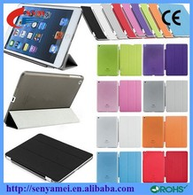 2015 Wholesale Ultra Thin Luxury Leather Flip For iPad Air Cover Smart Case,For Apple iPad