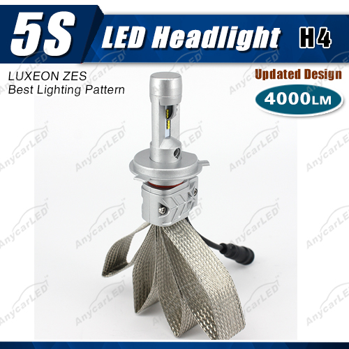 4000lm 5S h4 auto LED car light bulbs