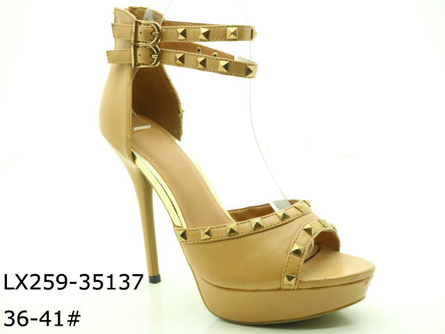 Ladies high heel design fashion flat summer new collection of sandals
