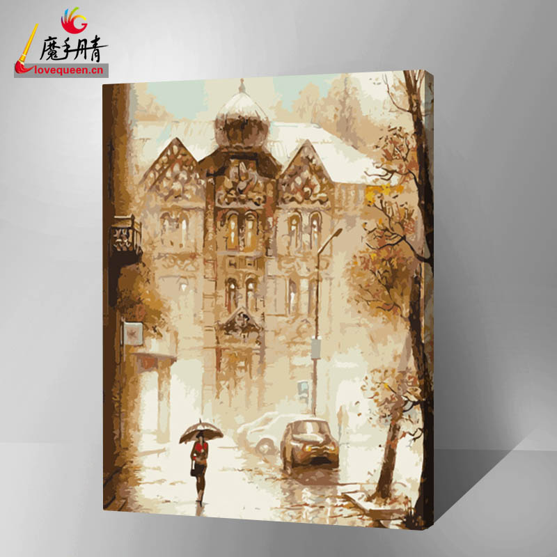 Top selling diy oil famous painting by numbers hot sales in chinf yiwu for decor home