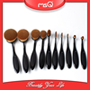 MSQ 10pcs Hot Sale Professional Oval Makeup Brushes